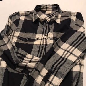 J Crew Factory women's plaid flannel shirt